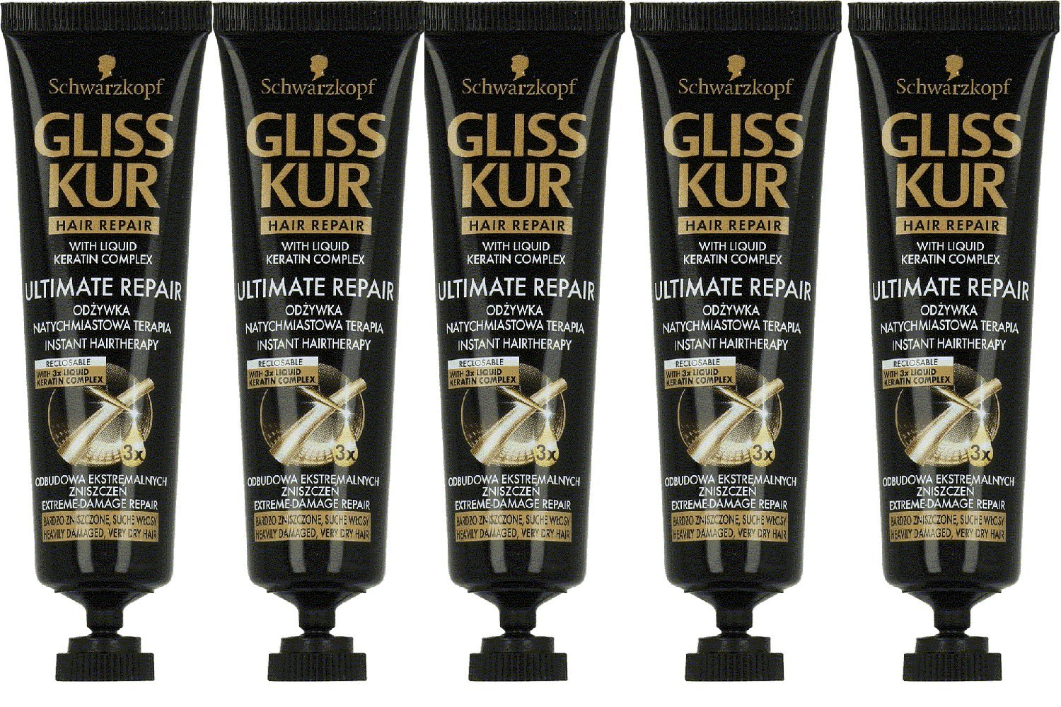 Gliss Kur Ultimate Repair Instant Hairtherapy- 20 Ml - 5 Tubes