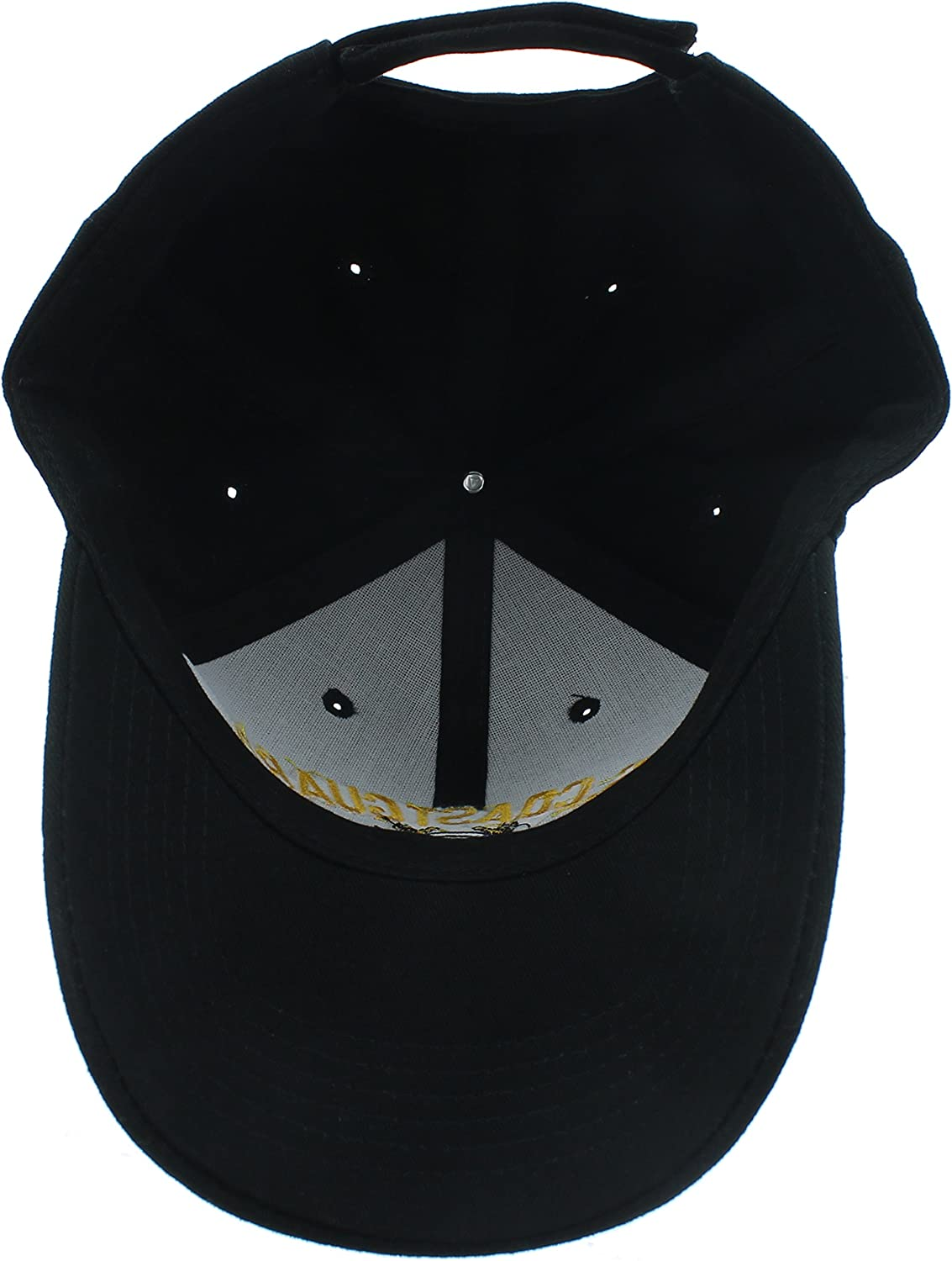 U.S NEW COAST GUARD CAP HAT ALL BLACK
