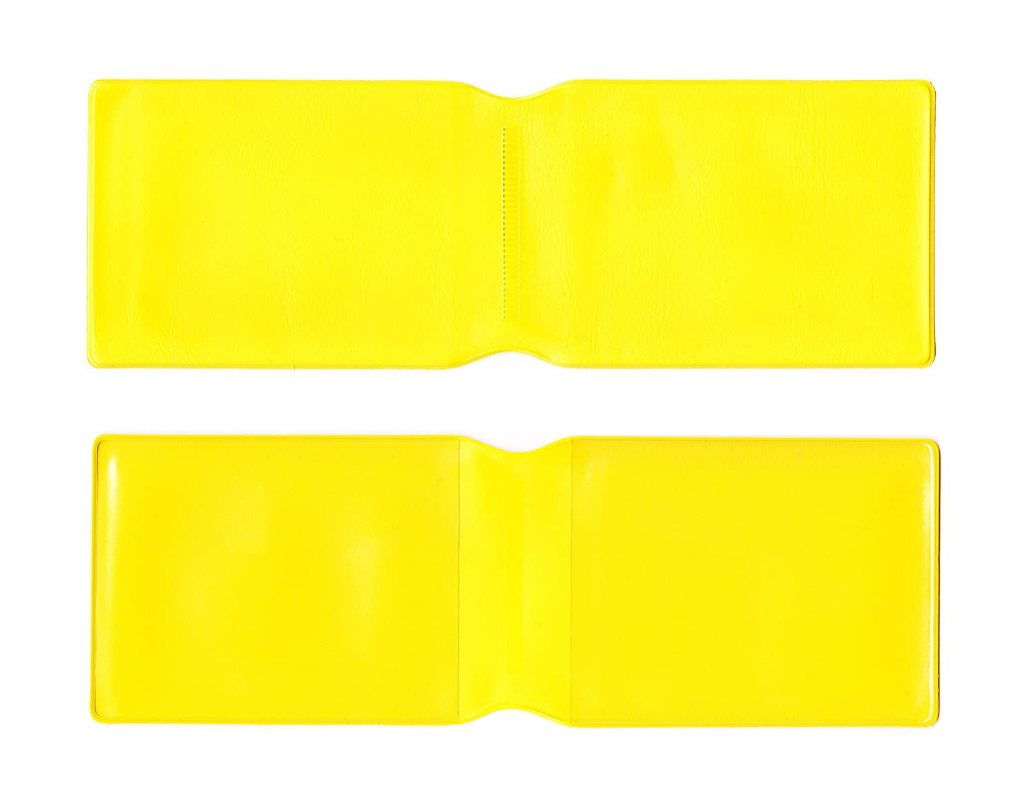 1 x Yellow Plastic Oyster Card Wallet / Credit Card Holder / ID Card Wallet / Business Card Holder / Travel Pass Cover - MADE IN THE UK
