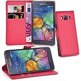 Cadorabo Custodia Libro per Samsung Galaxy A7 2015 in Rosso Carminio – con Vani di Carte, Funzione Stand e Chiusura Magnetica – Portafoglio Cover Case Wallet Book Etui Protezione