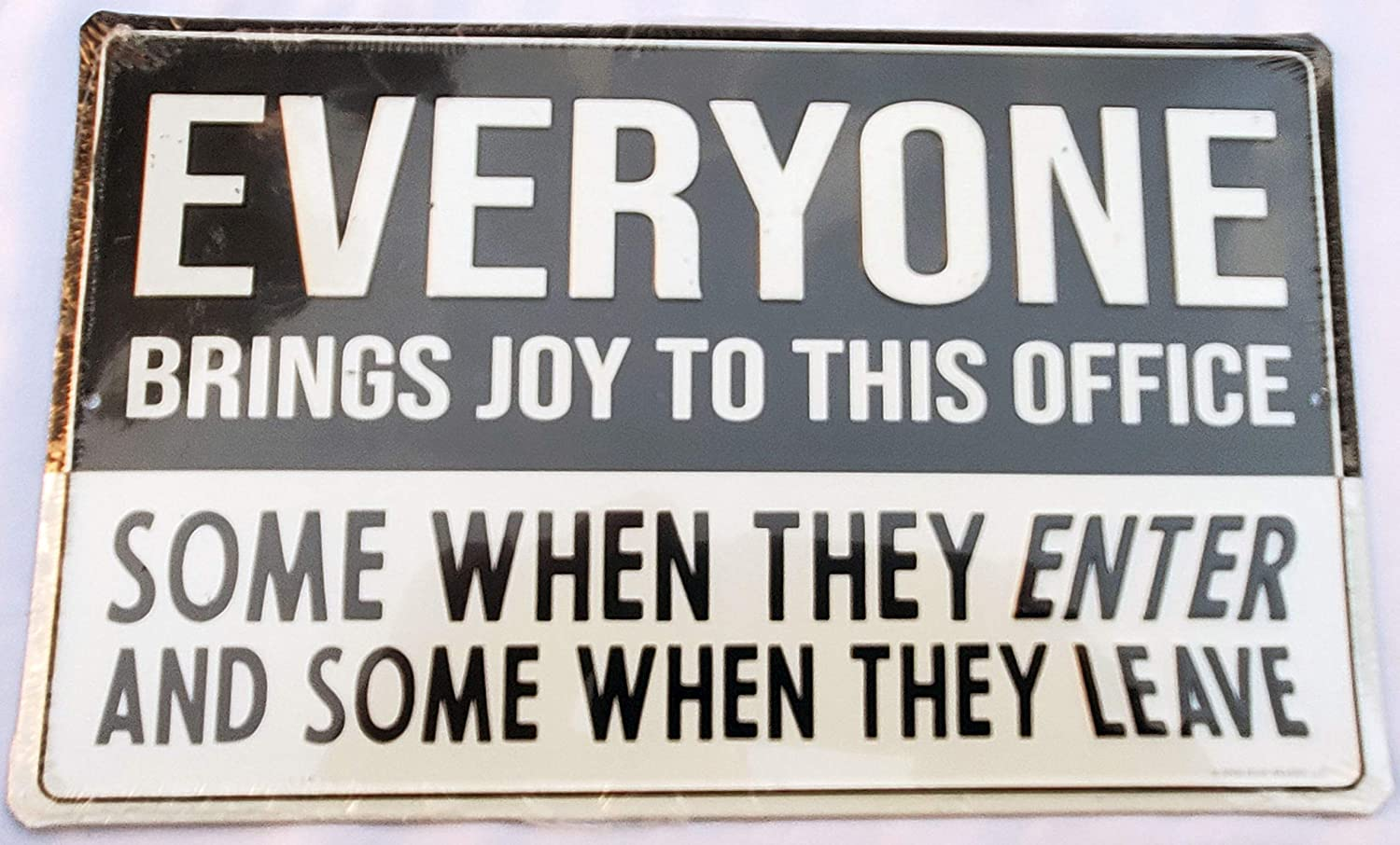 "Hobby Lobby Everyone Brings Joy to This Office Sign 6"" x 9.75"""