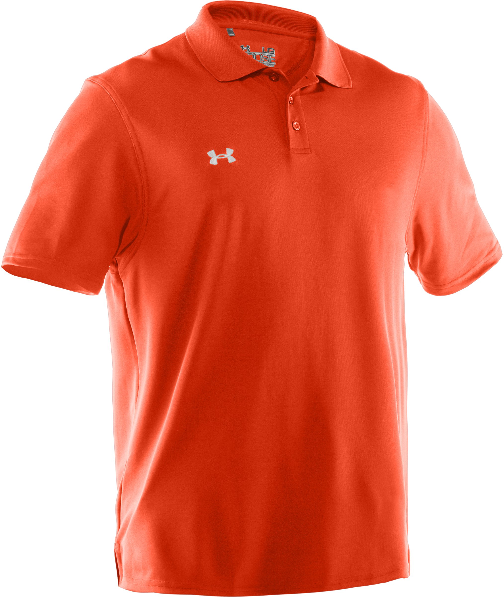 Under Armour Team Performance Polo Dark Orange/White Small