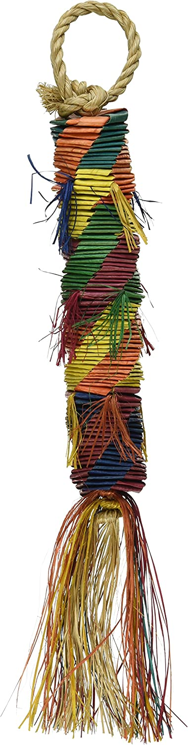 """Planet Pleasures Hex Tower 9"""" Small Bird Toy"""