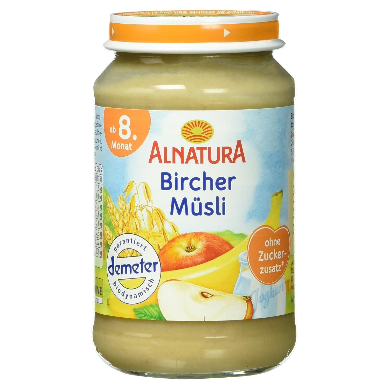 Alnatura Demeter Bio Bircher-Mü sli, 6er Pack (6 x 190 g) 106508