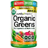 Purely Inspired Organic Greens Powder, 39 Superfoods + Multivitamins, Healthy Nutrition on the Go, Fruits + Vegetables…
