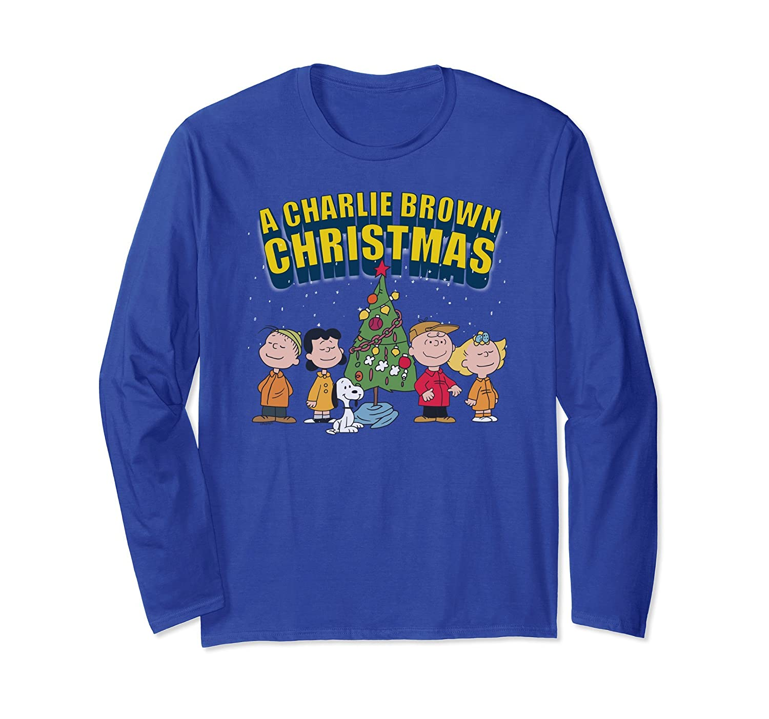 Peanuts Charlie Brown Christmas Special Long Sleeve T-shirt-fa