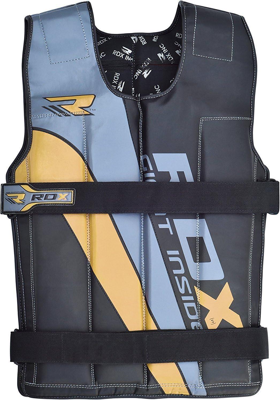 Rdx Gym Lastrado Chalecos de Peso Fitness Weighted Vest Entrenamiento Chaleco Pesas: Amazon.es: Deportes y aire libre