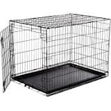 Douge Couture Metal Dog Cage, 42 inches (Black, DCMDC_9)