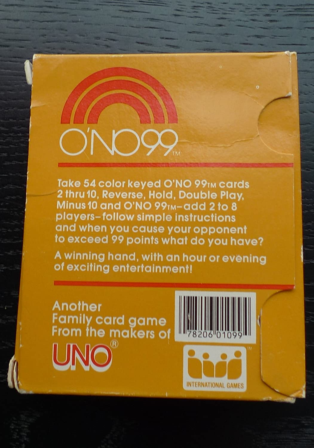 Amazon ONO 99 Card Game From The Makers Of Uno 1980 Toys Games