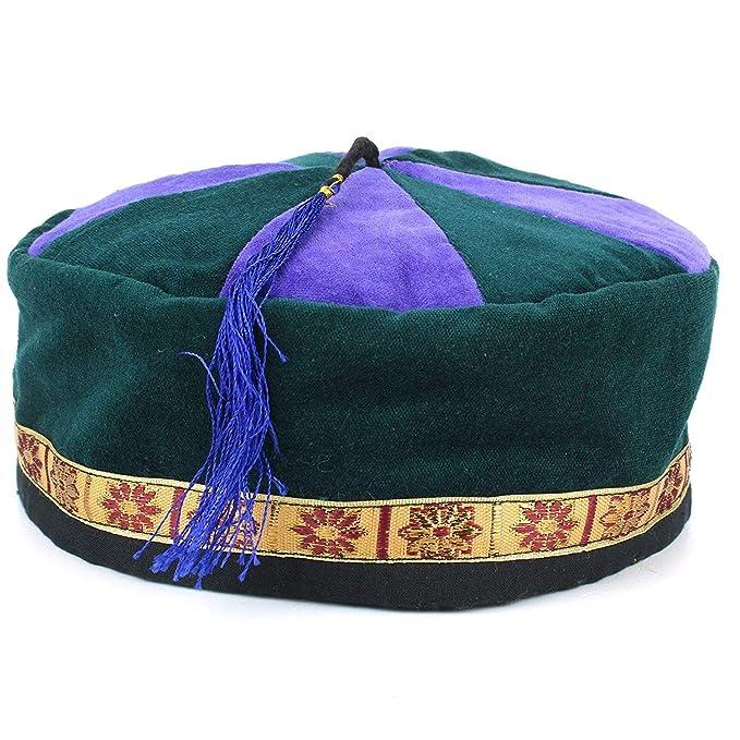 Siesta Wool Smoking Hat Cap Fez FES Unisex Mens Women Handmade Fancy Dress Festival