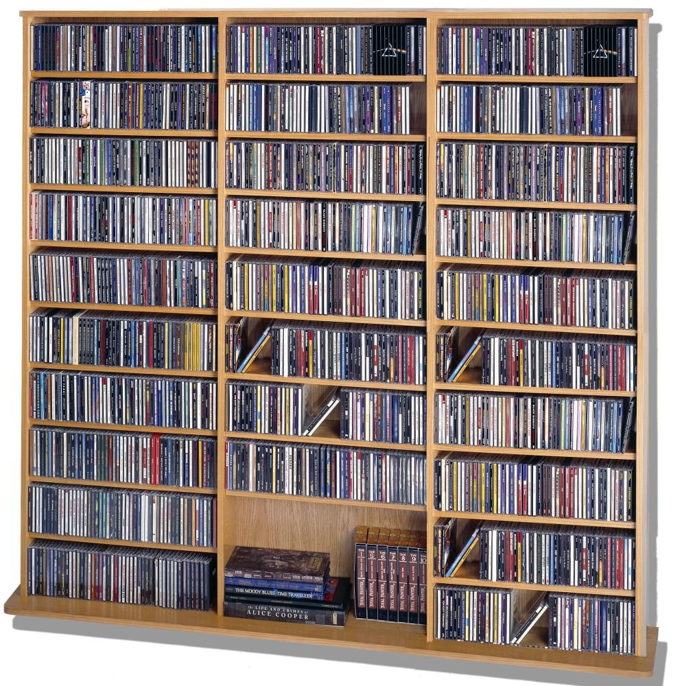 Leslie Dame CDV-1500 High Capacity Oak Veneer Multimedia Cabinet, Oak Leslie Dame -- DROPSHIP LE1115