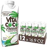 "Vita Coco Coconut Water, Pressed Coconut | More ""Coconutty"" Flavor | Natural Electrolytes | Vital Nutrients | 16.9 Oz…"
