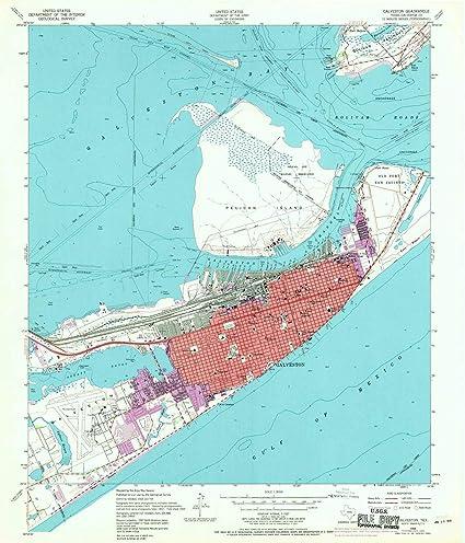 Amazon Com Yellowmaps Galveston Tx Topo Map 1 24000 Scale 7 5