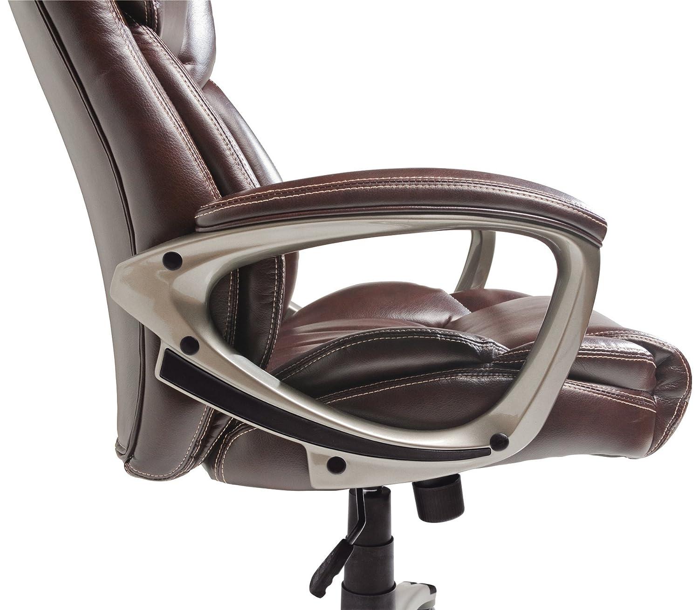 Amazon Serta Bonded Leather Executive Chair Brown Kitchen