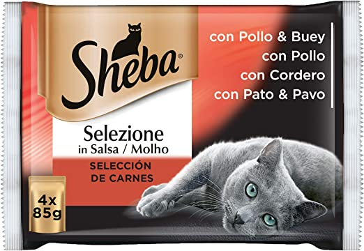 Multipack de 4 bolsitas Selezione de carnes en salsa para gatos ...