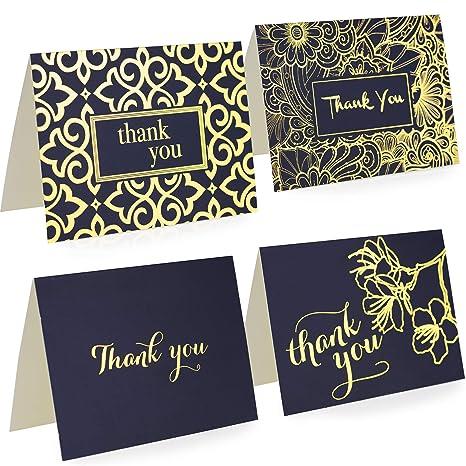 Amazon.com: Tarjetas de agradecimiento con sobres – Juego de ...