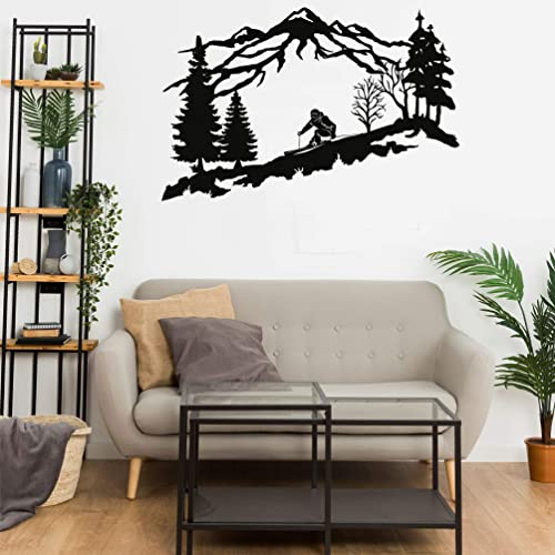 DEKADRON Metal Skier Wall Art