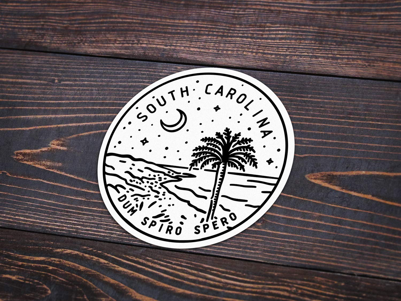 3 South Carolina Sticker
