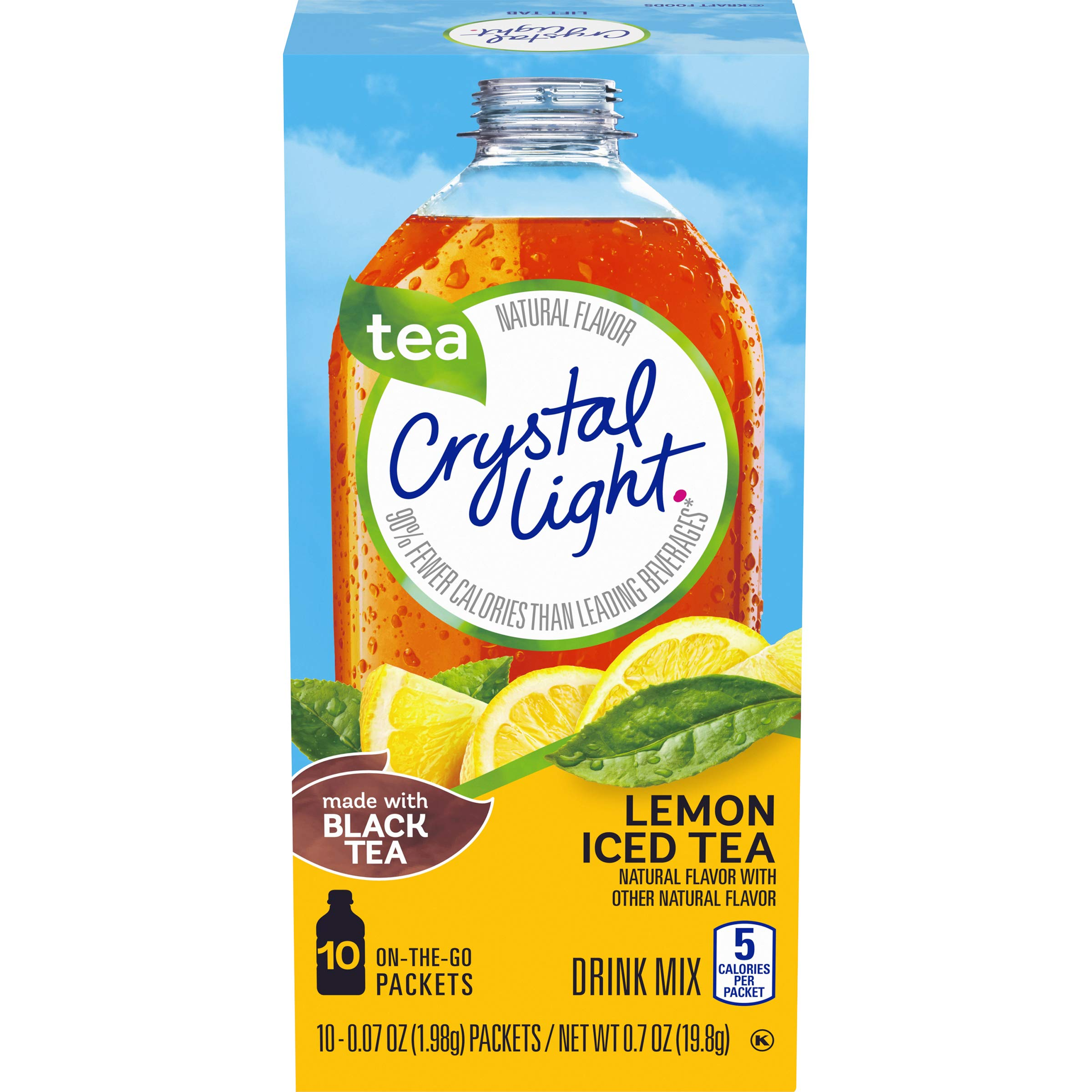 Crystal Light Drink Mix, Lemon Iced Tea, On The Go Packets, 10 Count (Pack of 6 Boxes) by Crystal Light
