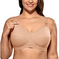 Gratlin Women's Breathable Supportive Plus Size Cotton Maternity Nursing Bra