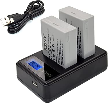 Powerextra 2 Pack 7.4V 1800mAh Li-ion Replacement Canon LP-E8 Battery for Canon EOS Rebel T3i 550D Kiss X5 T4i T2i EOS 600D T5i Kiss X6 X4 700D LC-E8E 650D
