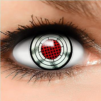 FUNZERA® Lentillas de Colores Terminator + recipiente para lentes ...