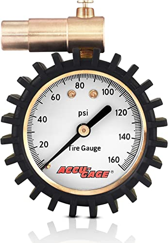 Accu-Gage Presta Valve Bicycle Tire Pressure Gauge