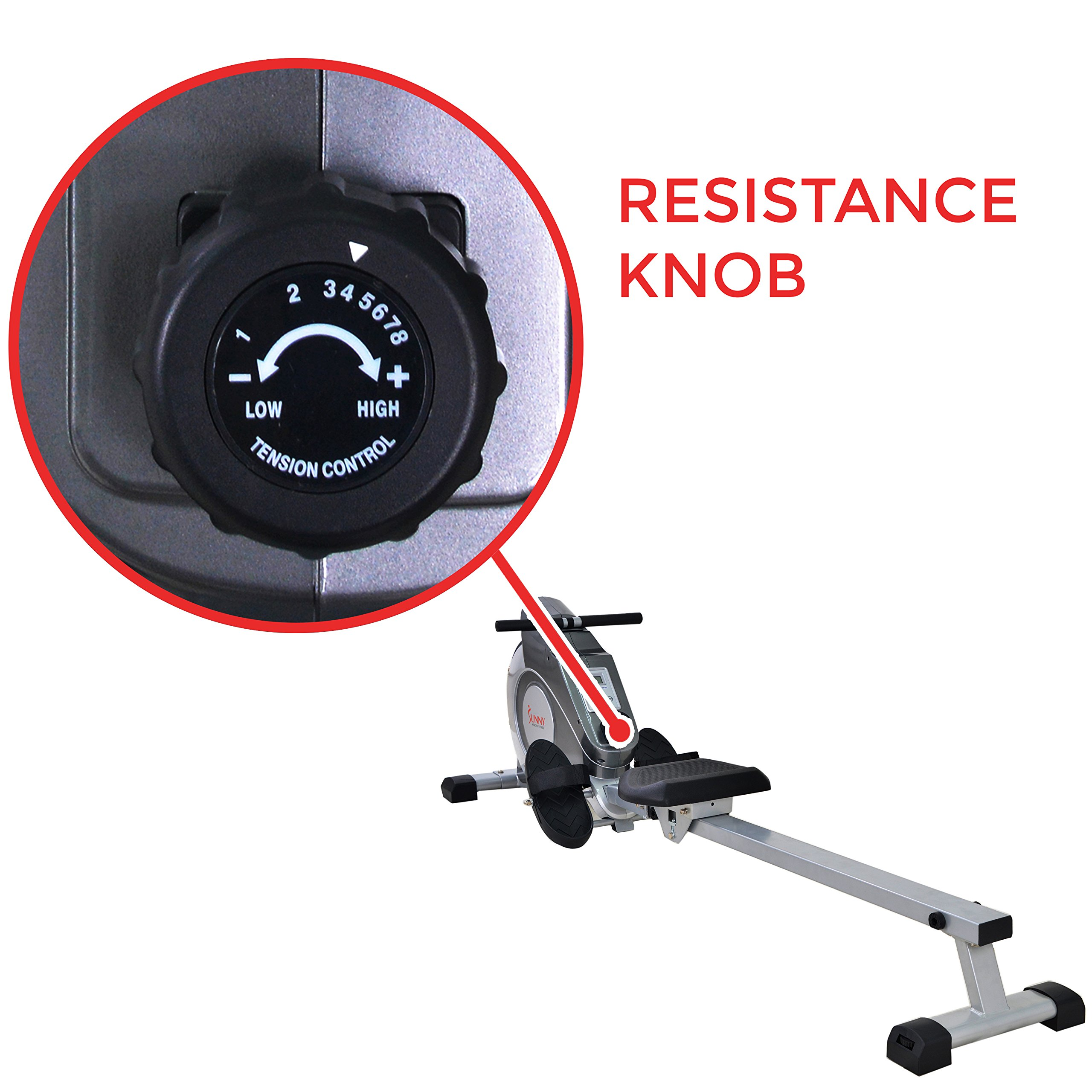 Sunny Health & Fitness Magnetic Rowing Machine with LCD Monitor by SF-RW5515 by Sunny Health & Fitness (Image #4)