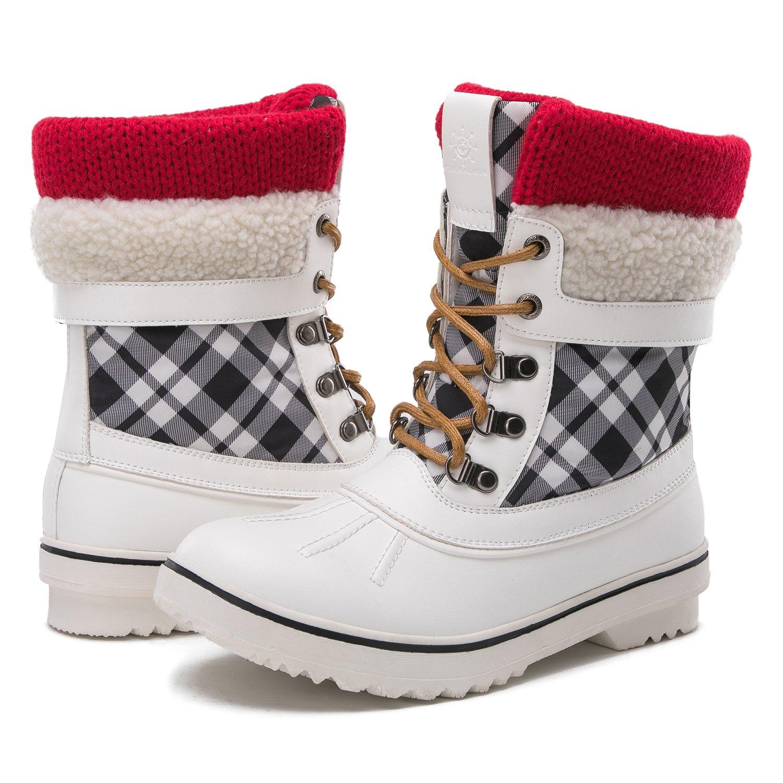 Global Win GLOBALWIN Women's Waterproof Winter Snow Boots B074G5WZ4M 11 M US|White
