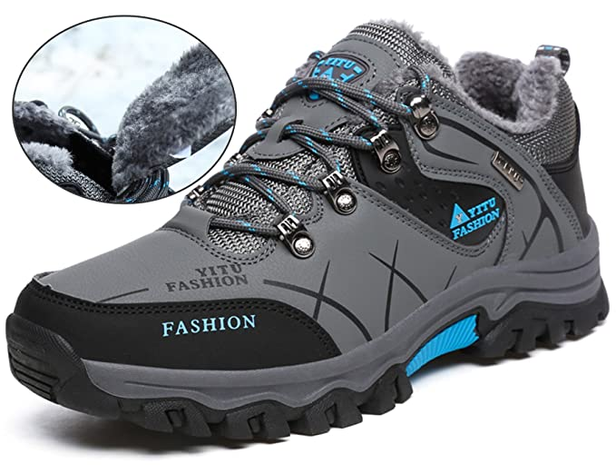 YITU Hombre Otoño Invierno Botas de Senderismo Impermeables de Ocio al Aire  Libre Zapatos de Deporte Zapatillas de Senderismo Cordones Trainer Botas  Verde ... 54298910086