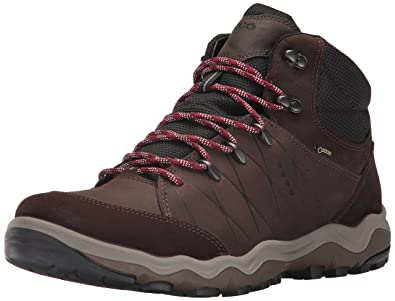 ECCO Men's Ulterra High Gore-TEX Backpacking Boot, Mocha/Coffee, 40 EU