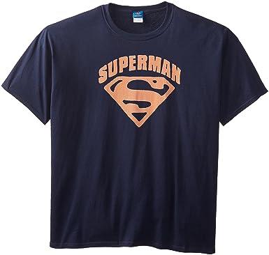 52a3976e8 Amazon.com: DC Comics Men's Big-Tall Superman Shield T-Shirt: Clothing
