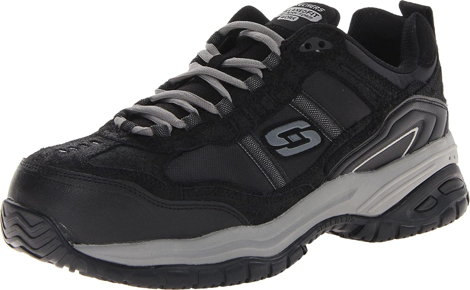 Skechers Men's Work Relaxed Fit Soft Stride Grinnel Comp Skechers for Work