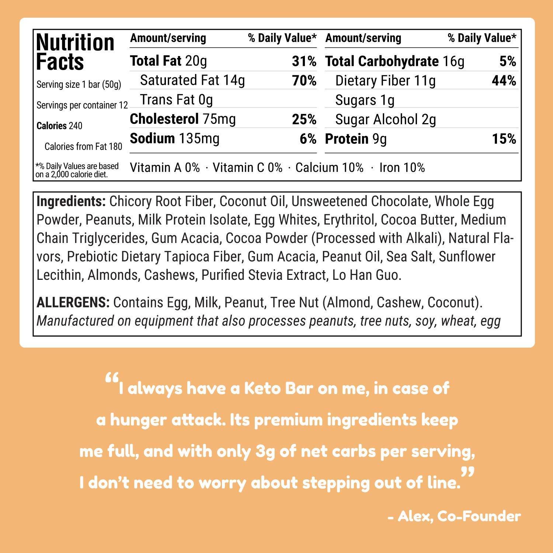 Kiss My Keto Snacks Keto Bars - Keto Chocolate Peanut Butter, Nutritional Keto Food Bars, Paleo, Low Carb/Glycemic Keto Friendly Foods, All Natural On-The-Go Snacks, Quality Fat Bars 3g Net Carbs by Kiss My Keto (Image #5)