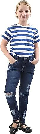 Denim Desire Pantalones de mezclilla ajustados para niñas de 7 a 13 años