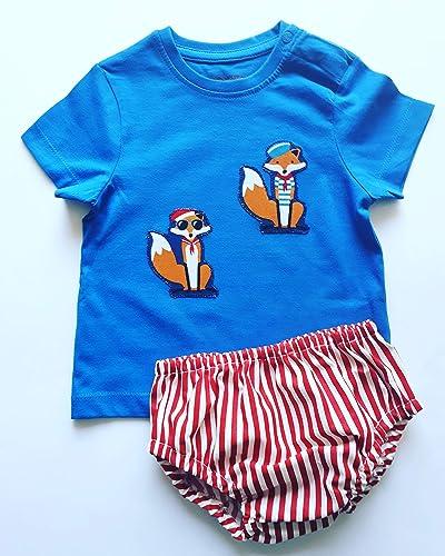 Conjunto cubrepañal ranita bebe estampado zorros marineros tela algodón 100%: Amazon.es: Handmade