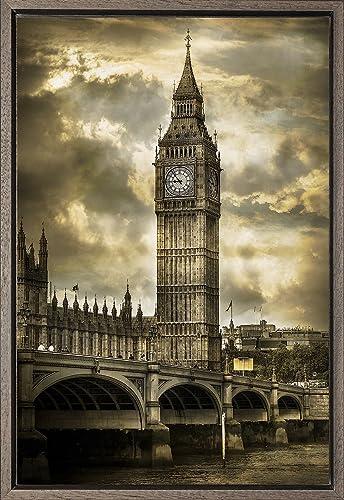 Cuadro enmarcado - Cuadro del Big Ben de Londres Dorada ...