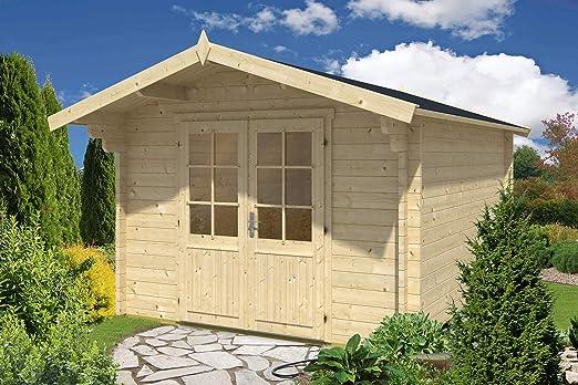 Alpholz Nele-44 - Caseta de jardín de madera maciza, con 44 mm de grosor de pared, incluye material de montaje, tamaño: 320 x 415 cm: Amazon.es: Jardín