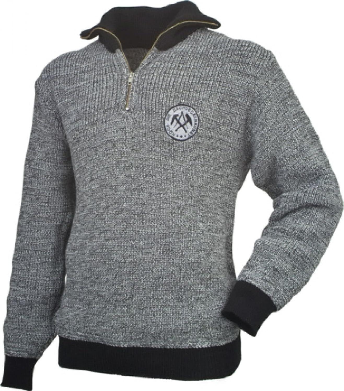 Shoppen Sie Troyer Pullover Pulli Dachdecker Zunft grau/schwarz ...