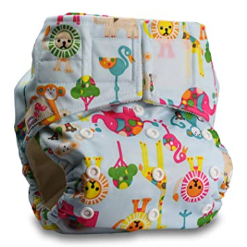 Without Insert Baby Cloth Washable Reusable Nappy Pocket Diaper Bamboo Pattern 12 Littles /& Bloomz Fastener: Popper