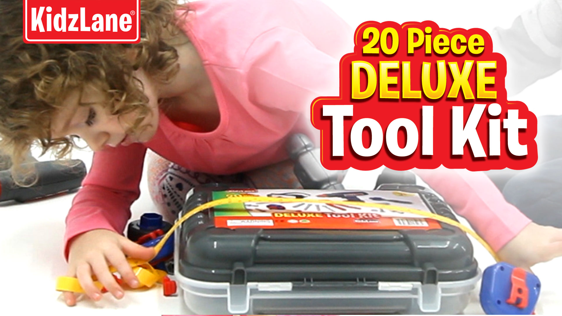 b37cbe8ac4ec Durable Kids Tool Set with Electronic Cordless Drill and 18 Pretend ...