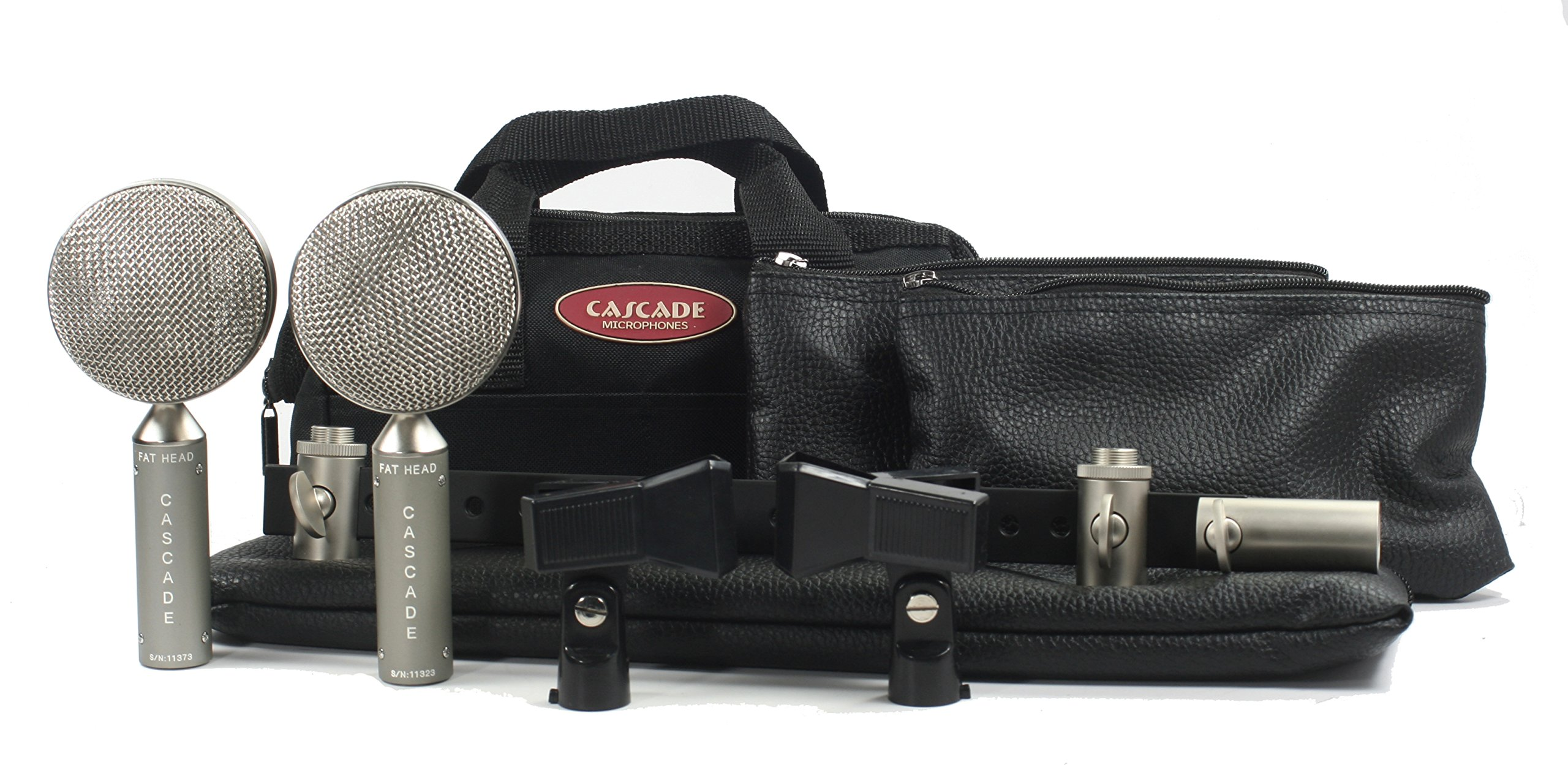 Cascade Microphones FAT HEAD BE Stereo Pair Ribbon Microphone, Grey Body/Anodized Silver Grill