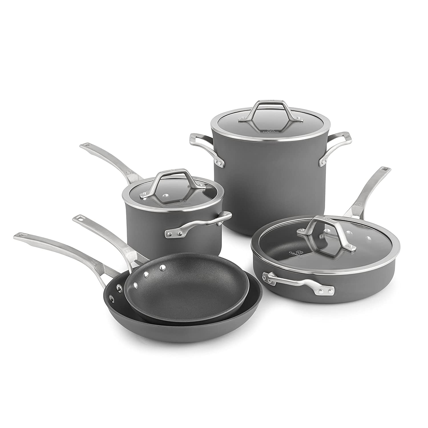 Calphalon Grey Signature 10-piece kit 1948247