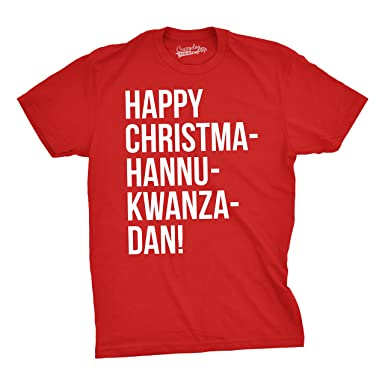 crazy dog t shirts mens happy christmahannukwanzadan funny christmas tee hilarious holiday t shirt