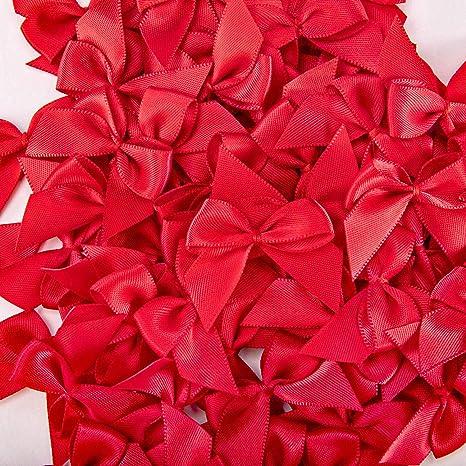 Humphrey's Craft Red Mini Satin Ribbon Bow Flowers