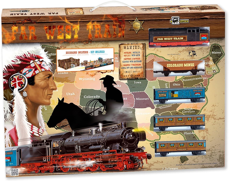 PEQUETREN - Far West Train, Tren con Circuito de 5.8 m (Servicios e Industrias del Juguete 695)