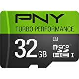 PNY U3 Turbo Performance 32GB High Speed MicroSDHC Class 10 UHS-I, up to 90MB/sec Flash Card (P-SDU32GU390G-GE)