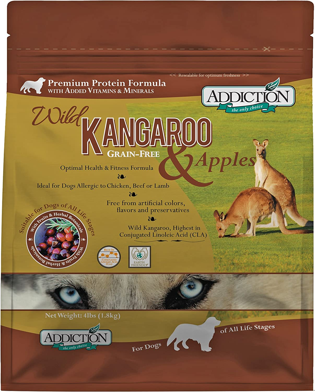 Addiction Grain Free Dry Dog Food Formulas Kangaroo & Apple