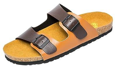 850a0835be7294 663 Men s Comfortable Sandal Flip-Flops Flat Cork Footbed Slippers (42 M EU