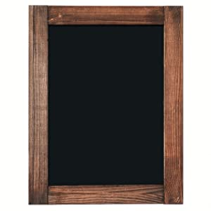 "Chalkboard | Magnetic & Non-Porous | Framed Chalkboard | Vintage Decor | Chalk Board for Wedding, Kitchen, Bar, Restaurant, Menu & Home | Rustic Chalkboard Sign | 11"" x 14"" | Wall Mounted Chalkboard"